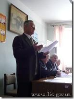 Председатель городского Совета ветеранов Ю.П. Положенцев